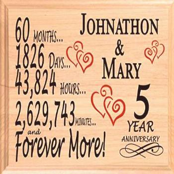Broad Bay 5 Year Anniversary Sign Personalized Wood Wooden