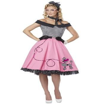California Costumes Women's Nifty 50's Adult,