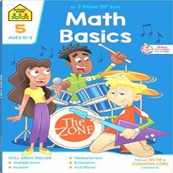 School Zone - Math Basics 5 Workbook - 64 Pages, Ages 10 to