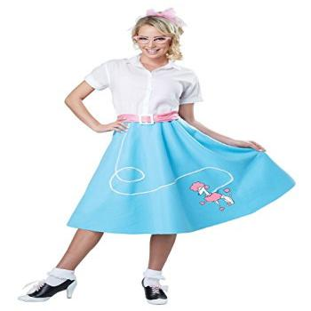 Womens Blue 50's Poodle Skirt Costume Large/X-Large