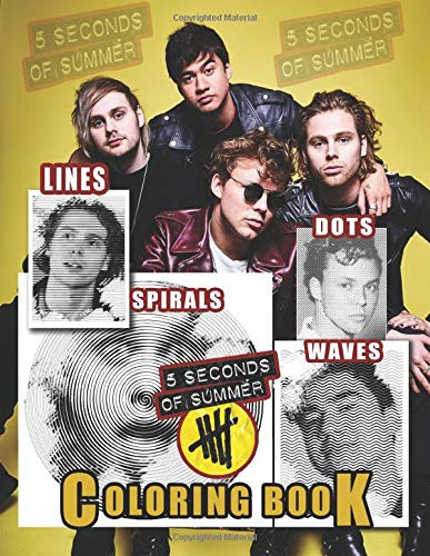 5 Seconds Of Summer Dots Lines Spirals Waves Coloring Book