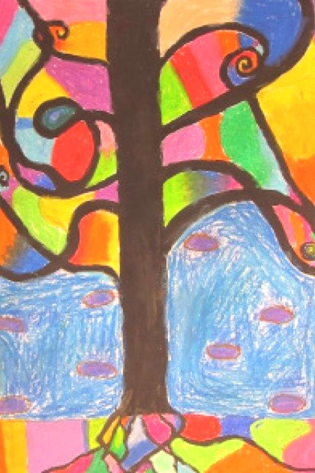 Abstract Oil Pastel Trees– 4th/5th grade | Art is Basic | An Elementary Art Blog