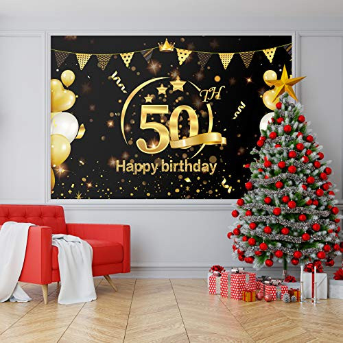 KMUYSL 50th Birthday Party Decorations, Extra Large 73quotx43quot