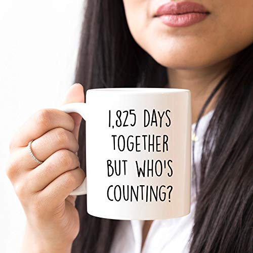 YouNique Designs 5 Year Anniversary Coffee Mug for Him, 11